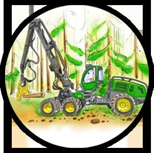 Axe expandeur HJO Bulten - Engins forestiers